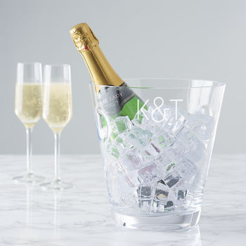Personalised Initials Crystal Champagne Bucket