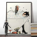Catwoman In The Bath Poster Print