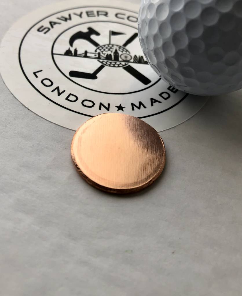 Personalised Copper Golf Ball Marker By Sawyer Co Golf