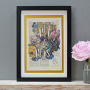 Personalised Vintage Roses Wedding Print