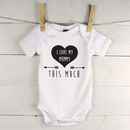 I Love You This Much Personalised Babygrow