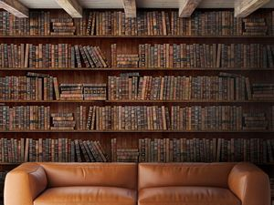 Book Shelf Wallpaper - home decorating
