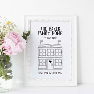 Personalised 'Our Home' Print