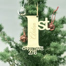 Personalised 1st Christmas 2018 Christmas Decoration