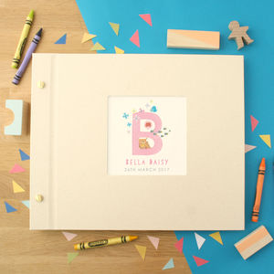 Personalised Baby Alphabet Photo Album - albums & guest books