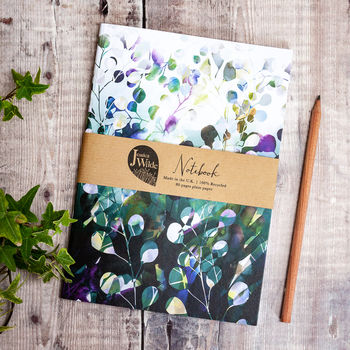 Midnight Botanica A5 Recycled Plain Notebook