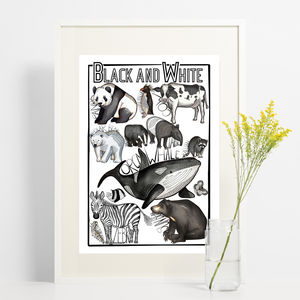 Black And White Animal Print - children's pictures & paintings