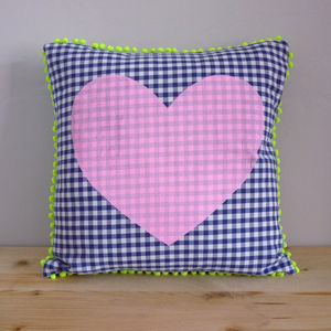 Colour Pop Heart Cushion - summer home
