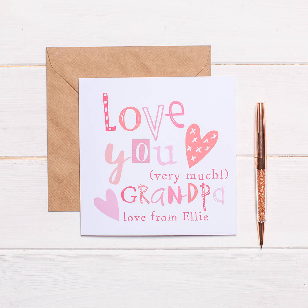 personalised card for grandpa by birdbloom – Personalised Valentines Cards