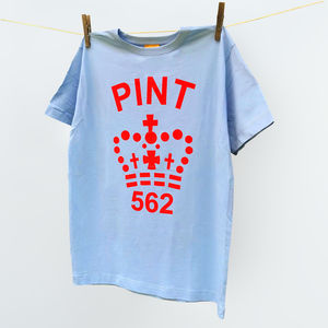 Single Pint Top Tshirt In A Range Of 11 Colours