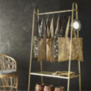 Brass Clothes Rail With A Shelf Pre Order For November