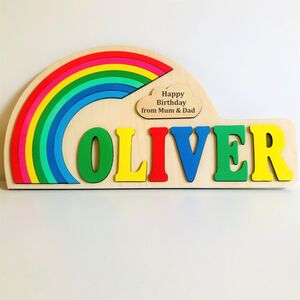 Rainbow Personalised Name Puzzle