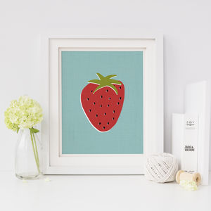 Strawberry Print - food & drink prints