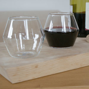 Set Of Four Modern Wine Glasses - glassware