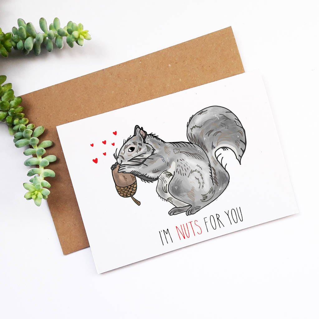 I'm Nuts For You Anniversary Card