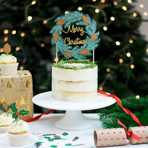 Christmas Wreath Cake Topper