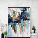 Abstract 135 Blue Art Print A5 A4 A3 Size