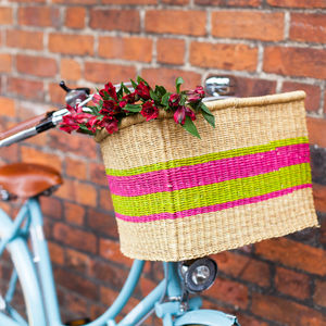 Colourful Rectangular Bike Baskets - storage