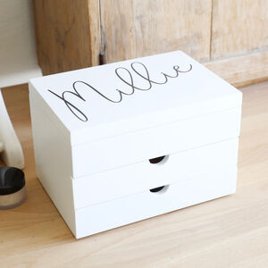 Personalised Jewellery Box With Drawers