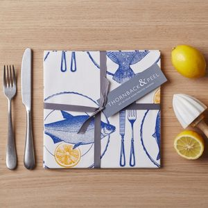 Fish Supper Napkin Set Of Four