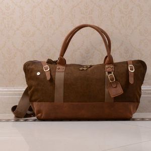 Canvas And Leather Boarding Bag Mother's Day Gift - holdalls & weekend bags