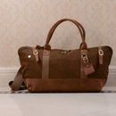 Canvas And Leather Duffle Boarding Bag Gift For Her