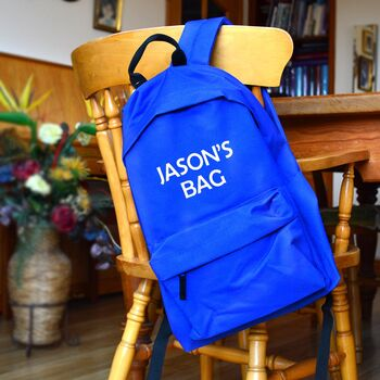 Personalised Backpack For Kids
