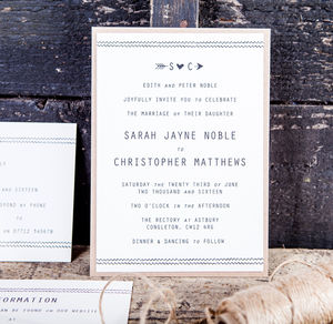 Chevrons Wedding Stationery