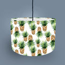 Pineapple lampshade - white fabric