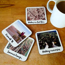 Personalised Retro Style Drinks Coasters