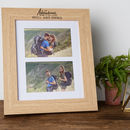 Personalised 'The Adventures Of..' Double Photo Frame