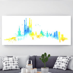 Barcelona, Canvas Art - modern & abstract