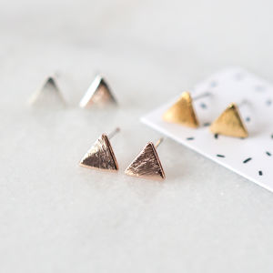Tiny Simple Triangle Stud Earrings - earrings