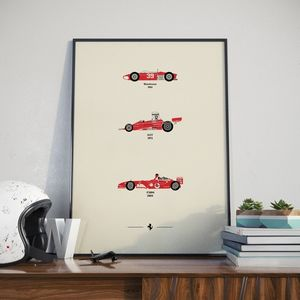 Iconic Ferrari Car Collection Print