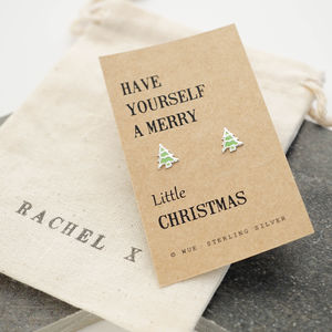 Merry Christmas Earrings - gifts for teenagers