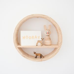 Natural Stacking Toy With Personalised Bag - wooden toys