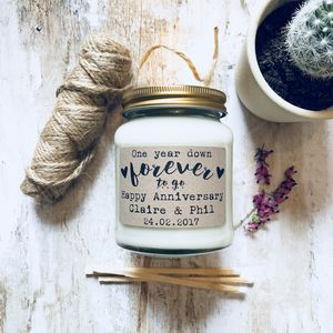 Personalised First Anniversary Scented Soy Candle - view all anniversary gifts