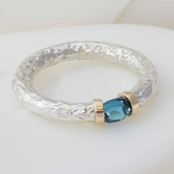London Blue Tension Ring