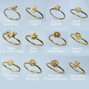 Personalised Birth Flower Stacking Rings