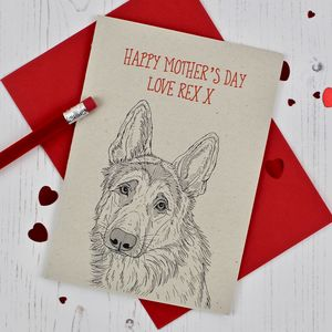 German Shepherd Mother's Day Card - mother's day cards & wrap