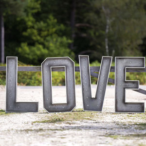 Giant Light Up Metal Letters