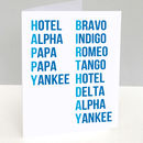 Phonetic Alphabet Birthday Card