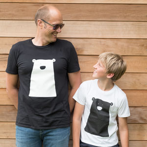 Clueless Bear Tshirt Mens - father & child sets