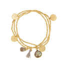Ashiana Gold And Labradorite Multi Charm Bracelets