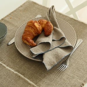 Rustic Style Natural Linen Placemat