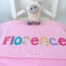 Personalised Baby Blanket - Pink