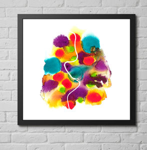 'Rome' Abstract Map Fine Art Giclée Print