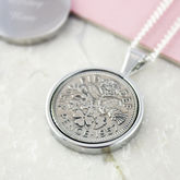 Sixpence 1957 60th Birthday Coin Necklace - women's jewellery