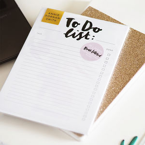 Monochrome Hand Lettered 'To Do' List Notepad
