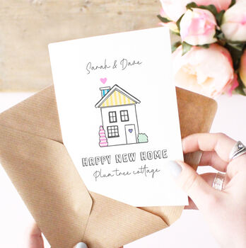 Personalised Illustrated 'New Home' Card